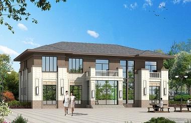 新中式二层复式别墅设计图,含全套完善施工图纸,中高端自建房屋