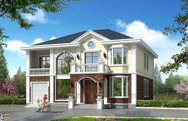 精品二层自建房屋图纸,14*16m,美观精致,造价40万左右,带有室内车库