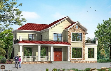 温馨美观的美式田园小别墅设计图,房间数量较多,适合做民宿