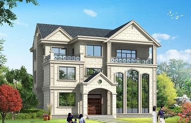 法式三层精品复式别墅设计图,高端大气,精致美观,带有室内车库