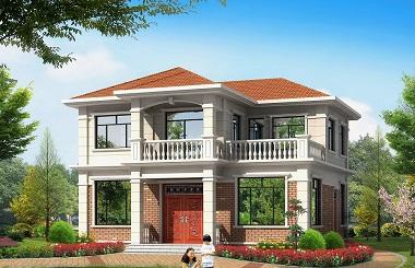 非常受欢迎的一款小户型二层自建房屋设计图,配色经典,经济实用