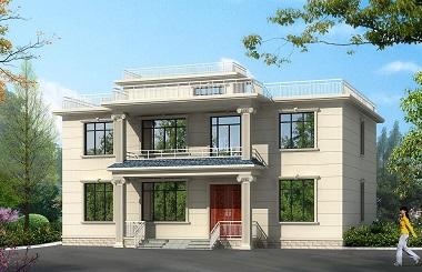 性价比超高的二层平顶自建房屋设计图,美观实用,建房首选