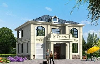 精品二层自建房屋设计图,带有室内车库