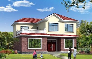 精致二层自建房屋设计图,占地170平方米,造价35万