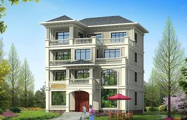 造价70万左右的四层自建别墅设计图,占地146平方米,可做民宿