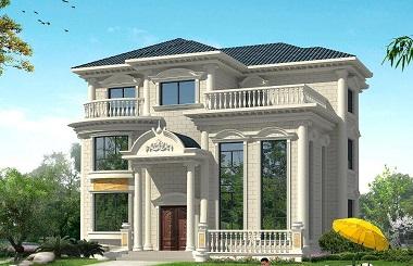 销量超高的一款欧式三层复式自建别墅设计图,尺寸和布局都符合大多数家庭需求