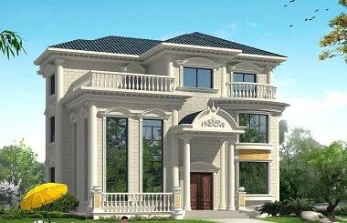 欧式复式三层自建别墅设计图,采光良好,高端大气