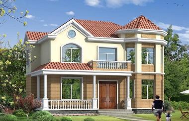 非常受欢迎的一款小户型二层复式自建房屋设计图,造价25万,布局完善,美观精致