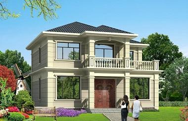 一款当代非常流行的二层自建房屋设计图,配色经典,温馨美观