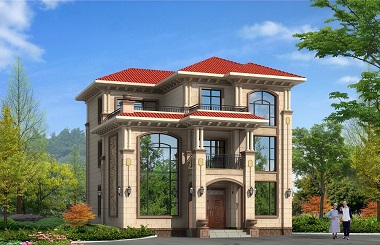 精品三层复式别墅设计图,造价40万左右,新年热销款