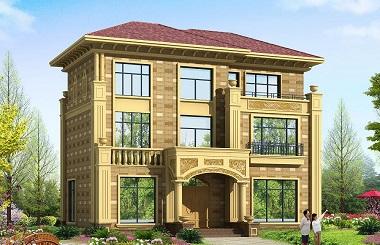 豪华配色的三层自建房屋设计图,布局完善