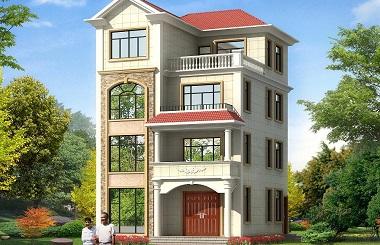 占地104平方米的小户型自建房屋设计图,功能齐全,居住舒适
