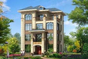 中式四层自建别墅设计图,造价60万左右,经济实用