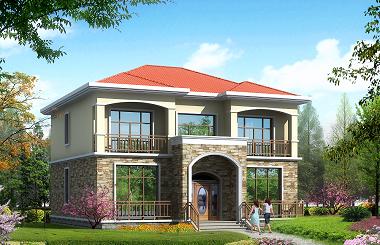 经典二层自建别墅设计图,户型合理,造价20万左右