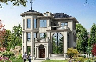 新年热销款三层古典欧式复式别墅设计图,带有地下室
