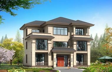 15*12m新中式三层自建房屋设计图,造价50万左右,高端大气