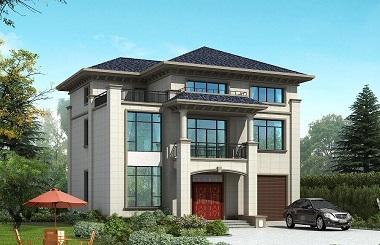 三层新中式自建别墅设计图,14*12m,50万左右建高端别墅