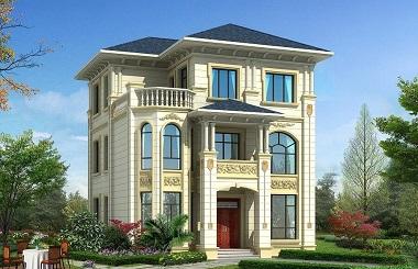 欧式三层自建别墅设计图,干净大方,非常华丽的一款设计方案