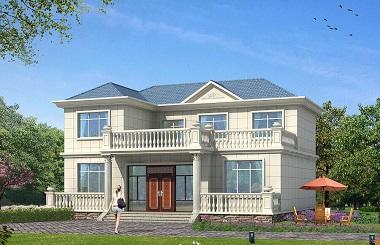 造价20万左右非常美观清新的一款海滨小别墅设计图,经济实用