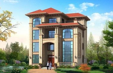 欧式四层复式别墅设计图,造价60万左右,高端大气