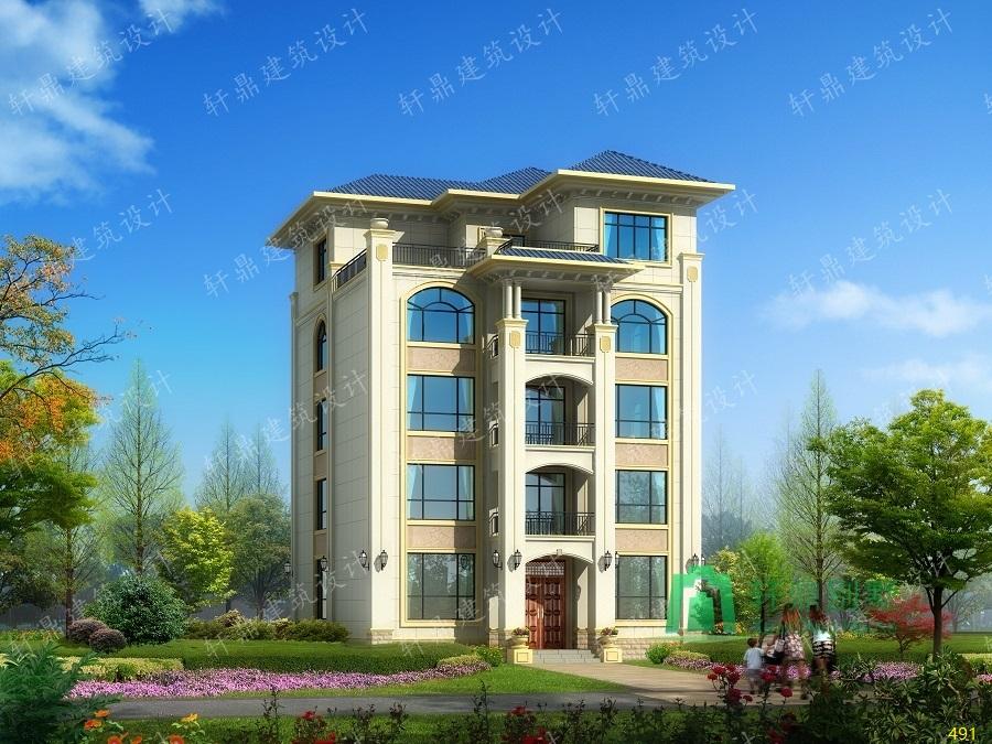 四层半自建房屋设计图,占地180平方米,适合做民宿