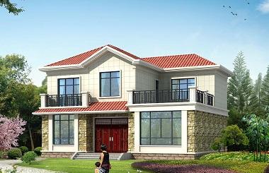 造价20万小户型精品二层自建房屋设计图,占地148平方米,含全套完善施工图纸