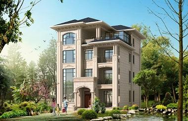 欧式四层复式自建房屋设计图,10*14.5m,占地142平方米,经济实用