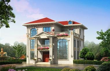 三层复式别墅设计图,13.8*138m,采光良好