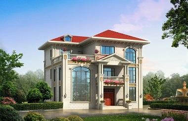 欧式三层复式别墅设计图,新年热销款,美观且实用