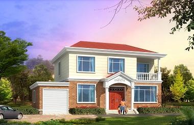 一款非常温馨漂亮的二层小别墅设计图,带有室内车库