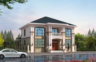 一款很有格调的二层自建别墅设计图,带有小庭院