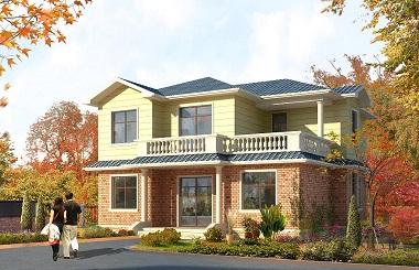 温馨的二层自建房屋设计图,13.74*12.57m,造价25万左右