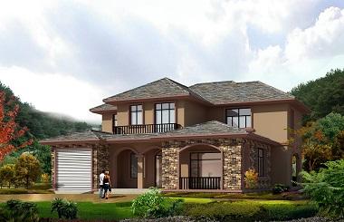 古典中式自建房屋设计图,高端大气,带有室内车库