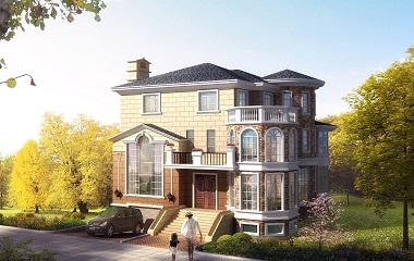 豪华三层自建复式别墅设计图,带有地下室,采光良好