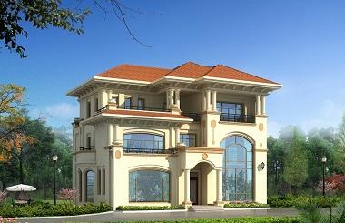 欧式高端自建复式别墅设计图,60万左右建高端别墅