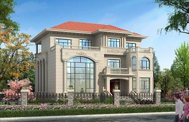 欧式三层复式别墅设计图,带有地下车库,轩鼎原创精品设计