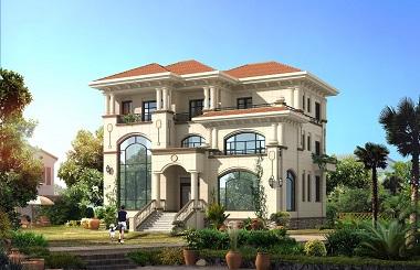 欧式高端三层复式别墅设计图,造型精美,布局完善