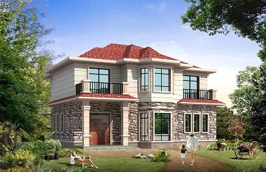 一款销量超高的二层乡村小别墅设计图,造价25万左右,经济实用