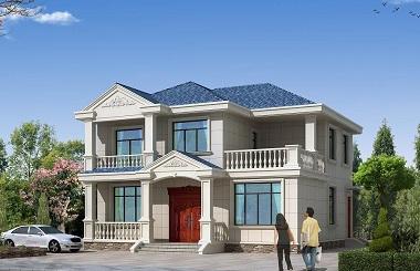 造价25万左右的二层自建房屋设计图,12*13m,美观大气