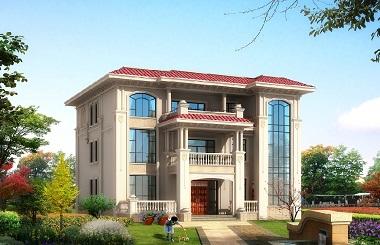 欧式三层自建房屋设计图,16*1m,造价80万左右,高端别墅