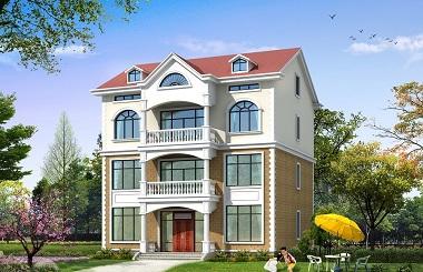 造价38万左右,精品三层半自建房屋设计图,轩鼎原创出品