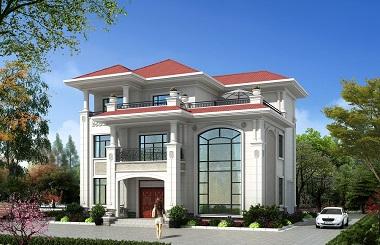 简单干净,采光良好的欧式三层复式别墅设计图,带有室内车库