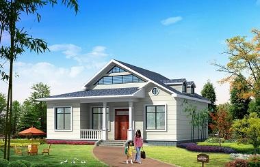 造价12万简单干净的一层自建房屋设计图,带有阁楼,经济实用