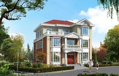 美观温馨的三层自建双拼别墅设计图,单户造价30万左右,经济实用
