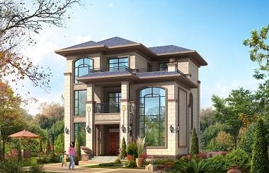 造价30万三层欧式复式别墅设计图,小户型,美观实用