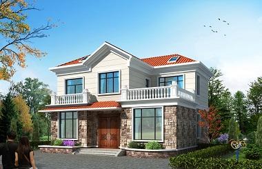 造价20万左右的二层田园小别墅设计图,温馨美观,含全套完善施工图纸