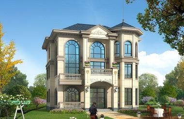 欧式三层复式别墅设计图,一层可做店铺,美观实用