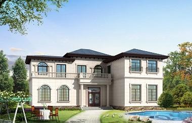 美观精致的二层自建别墅施工图,高端大气,造价30万左右