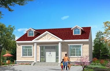 造价12万左右的一层半自建房屋设计图,美观实用