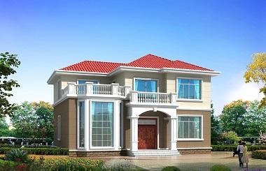 一款超级漂亮的二层田园别墅设计图,造价22万左右,自建房屋首选